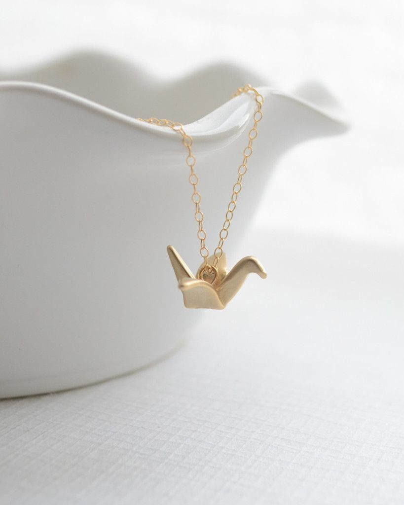 Silver 3D Origami Swan Necklace, 26051 | 1024x819