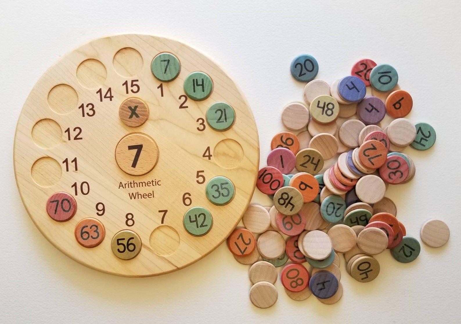 Multiplication Wheel 15x15 Multiplication Board