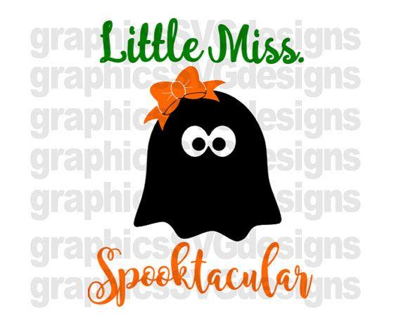 45+ Little Miss Halloween Cut File Design