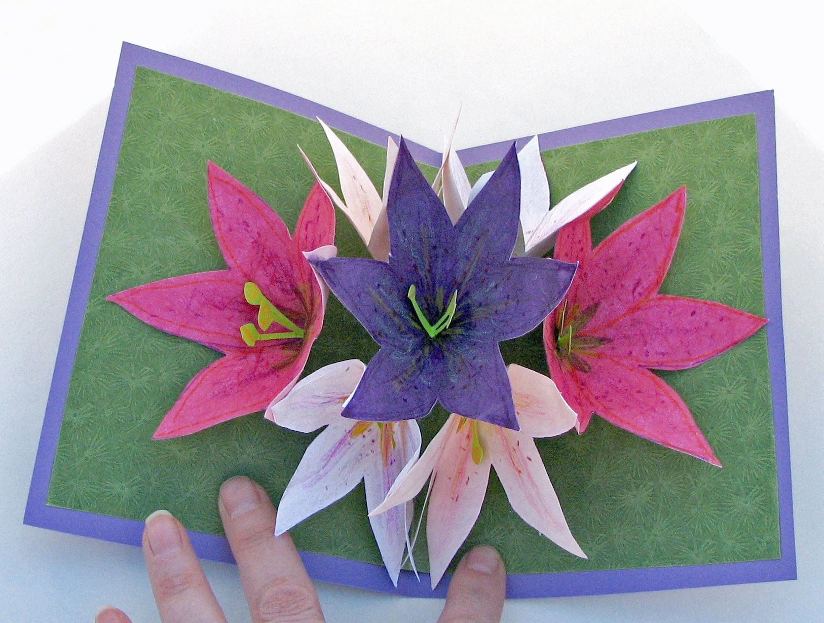 Seven flower pop up card scanncut cards popup pinterest