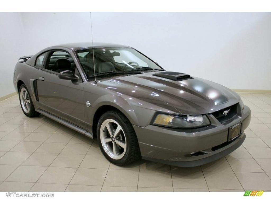 2004 Dark Shadow Grey Metallic Ford Mustang Mach 1 Coupe 28937145 Gtcarlot Com Car Color Galleries Mustang 2004 Ford Mustang Ford Mustang