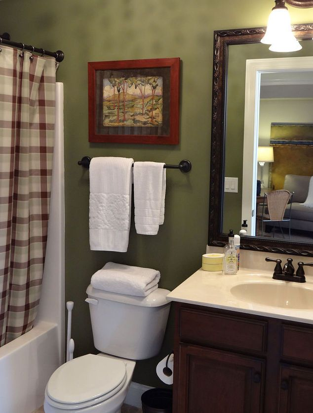 Decorations For Olive Green Bathrooms