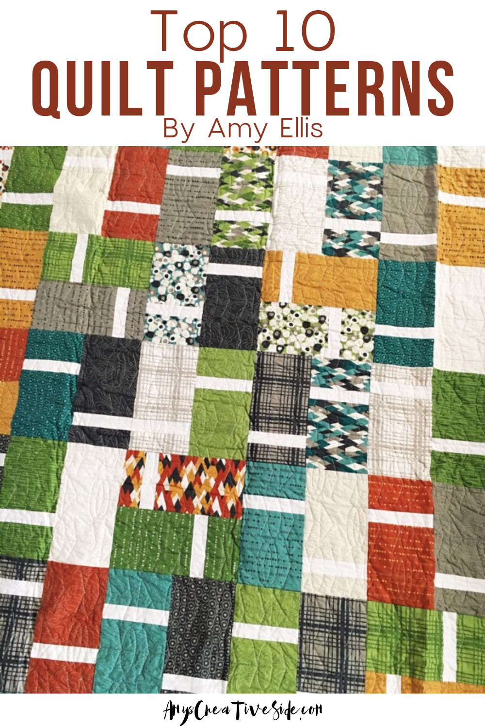 Quill Multiple Size Options Included Quilt Pattern by Amy Ellis of Amy/'s Creative Side