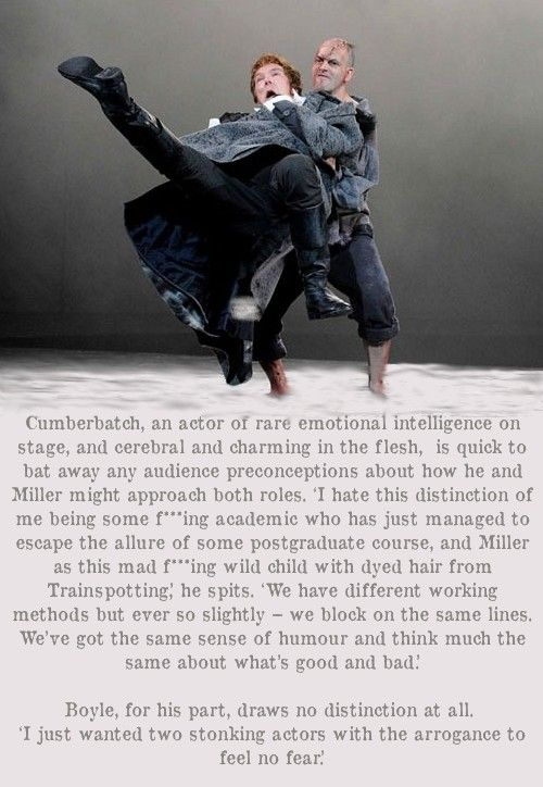 I Love The Picture That Goes With These Quotes I Want To Literally Sweep Him Off His Feet Benedict Cumberbatch National Theatre Live Victor Frankenstein