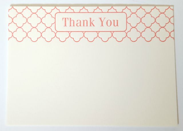 Idea Chic Letterpress Thank You