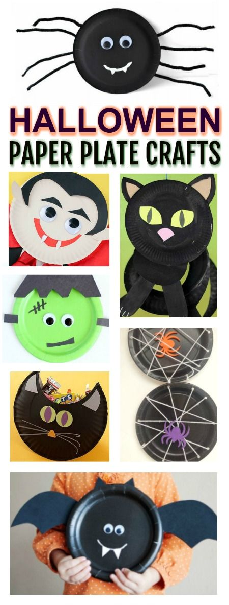 20 BOO-tiful PAPER PLATE CRAFTS FOR KIDS TO MAKE- these are adorable