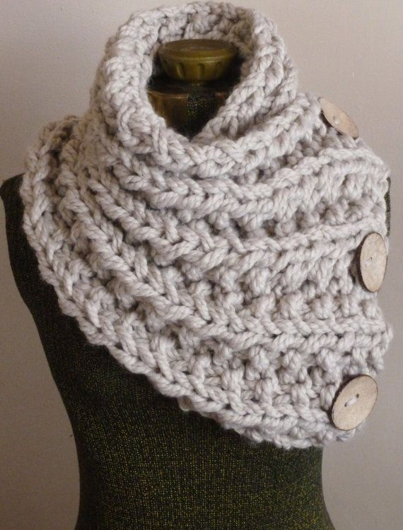 The Lancaster Scarf Chunky Hand Knit Scarf In By Bopeepsbonnets