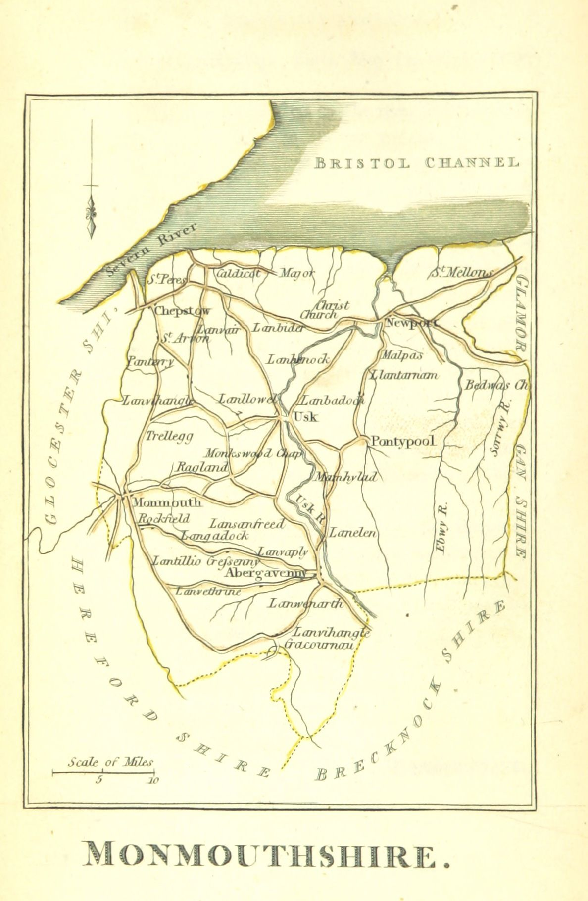 The picture of England Illustrated with colour d maps of the