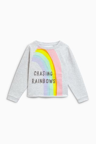 a4727e3150d53 Buy Grey Rainbow Crew Neck Sweater (3-16yrs) from the Next UK online shop
