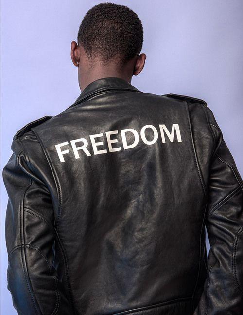 Image de freedom, black, and jacket