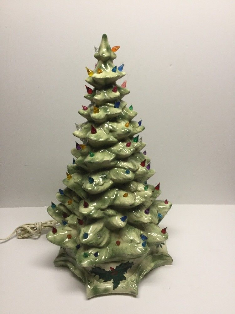 vintage 60 s 70 s ceramic white green 20 christmas tree with bulbs and lights vintage christmas trees pinterest bulbs christmas tree and vintage