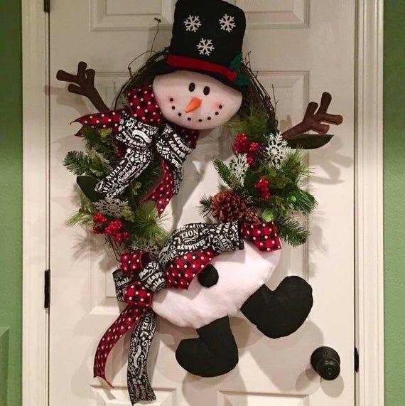 Photo of Grapevine Snowman Winter Wreath