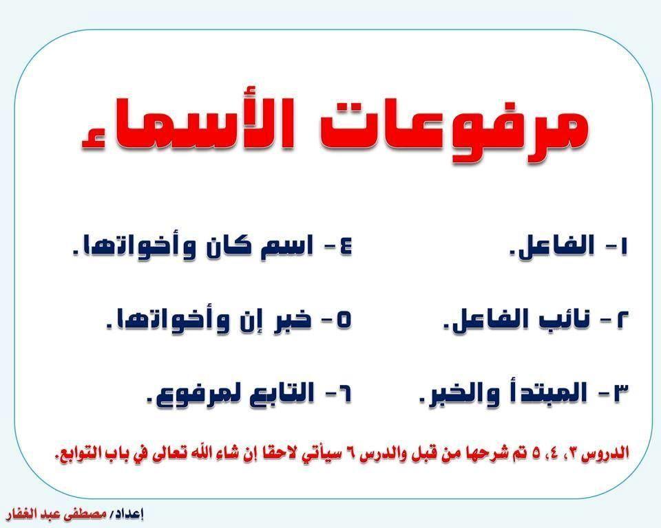مدخل الى اللغة العربية بطاقات Apprendre L Arabe Langue Arabe Exercice Grammaire