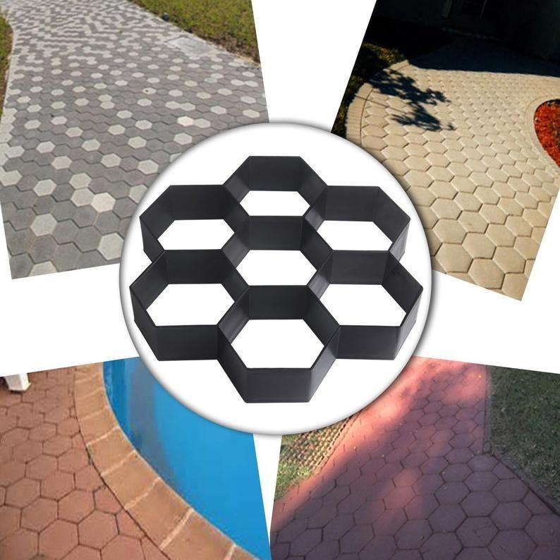 Ailj paving brick for garden pavement mold diy plastic