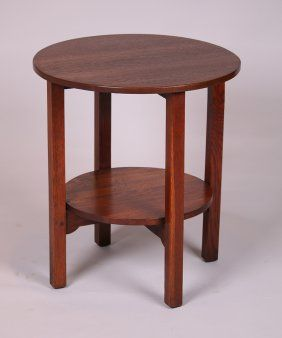 """Charles Stickley 24""""d Round Lamp Table Stickley Pinterest"""