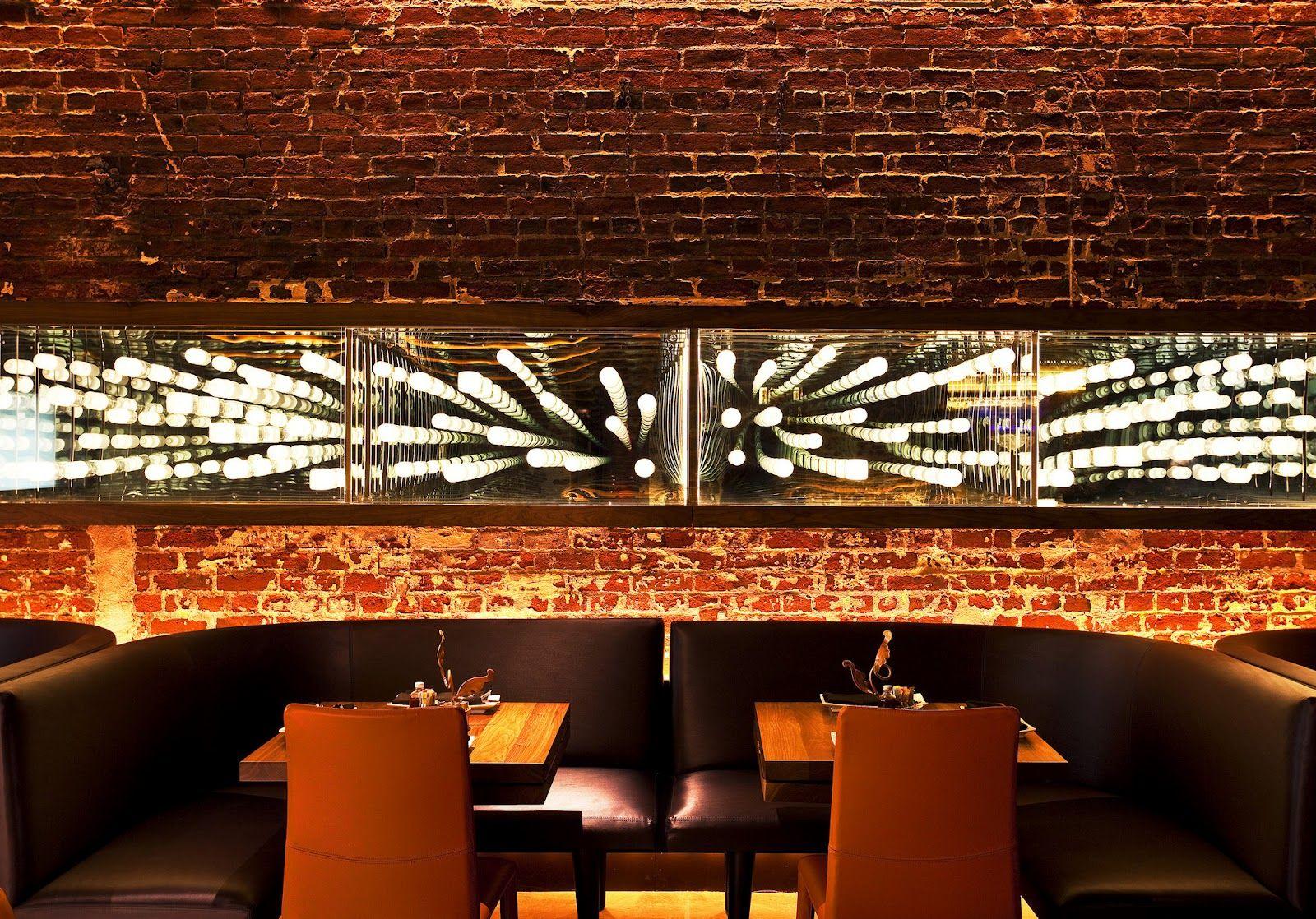 Mirrors In Restaurant