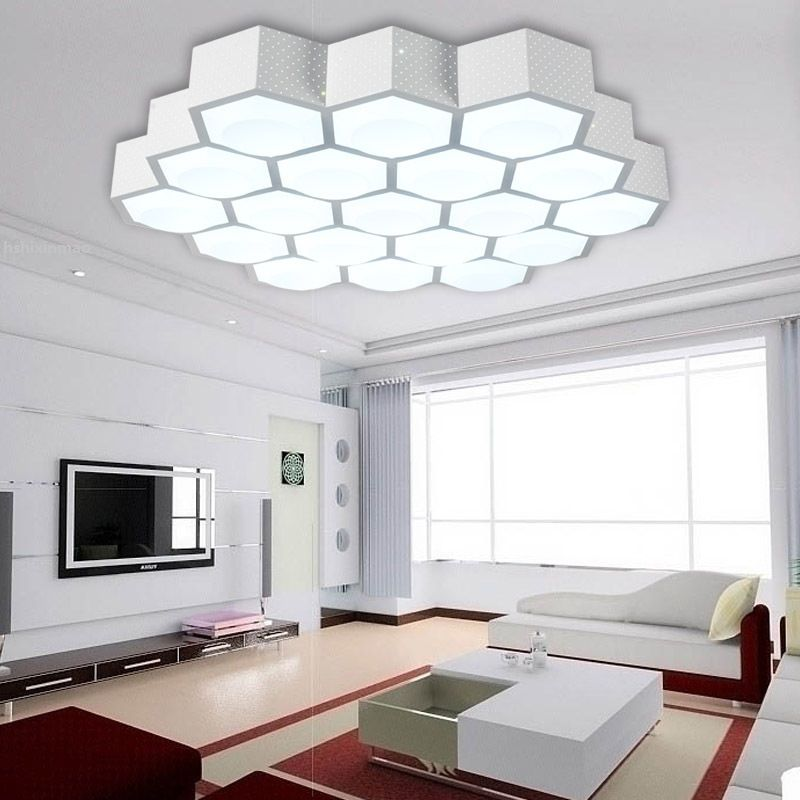 Latest LED modern simple living room lights creative honey b light acrylic dimming warm bedroom lights For Your House - living room lighting Style