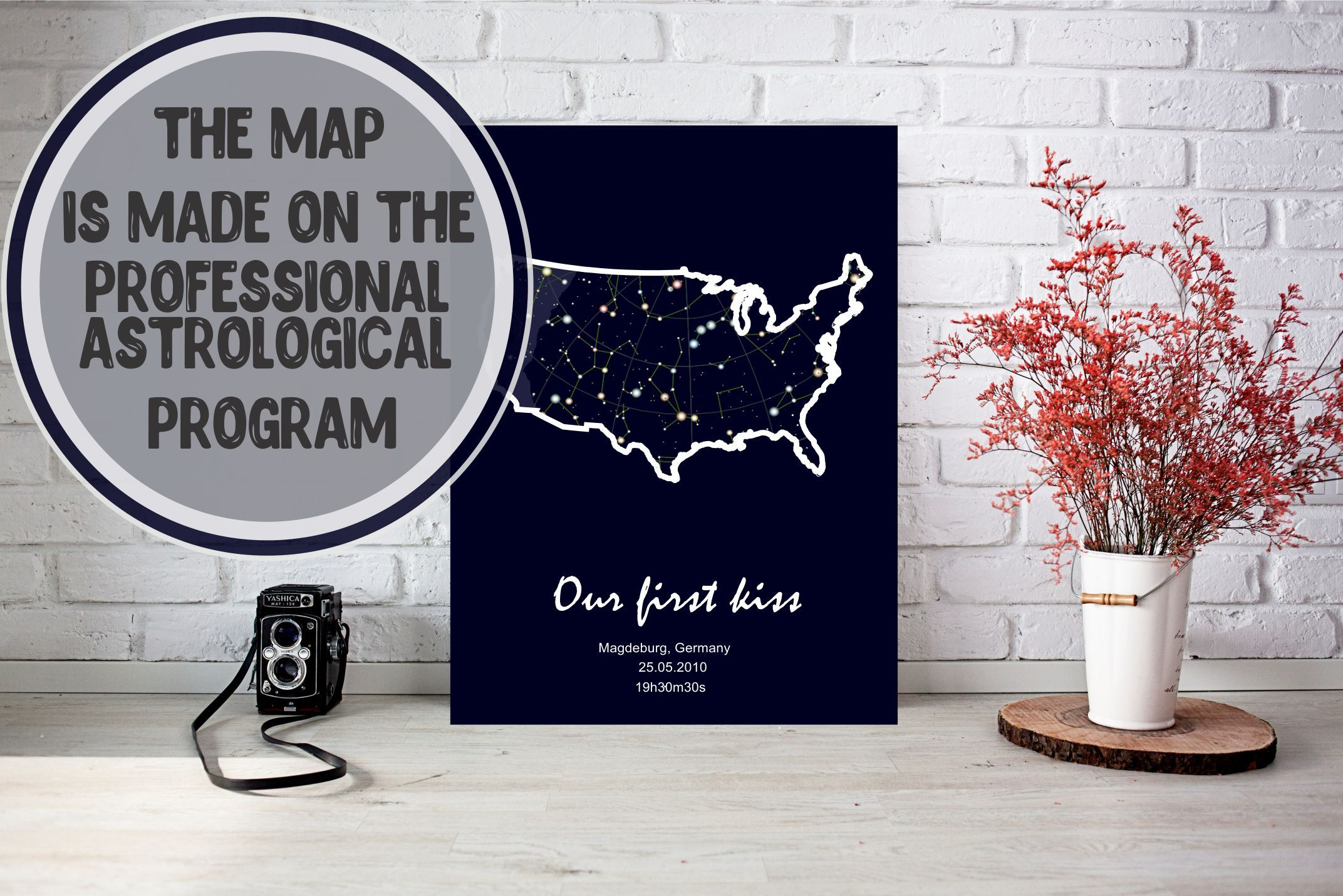 Exclusive Art Personalized Gift Star Chart Print Star Map Poster