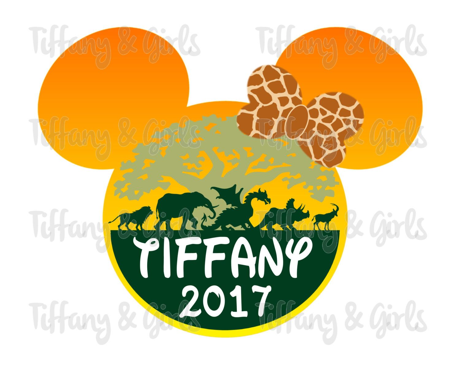 PRINTABLE Disney World Animal Kingdom Matching Family T-Shirt Iron ...