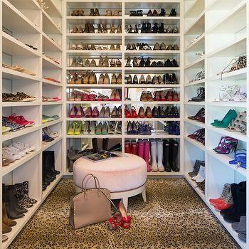 Shoe Closets, Transitional, Closet, Pink Peonies