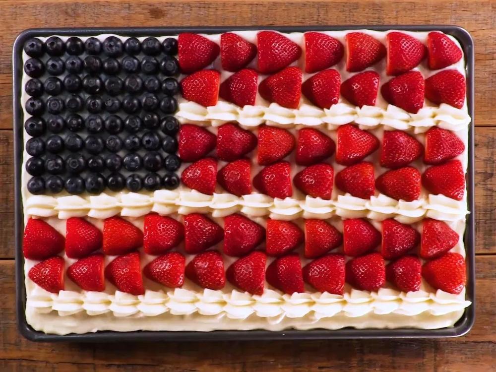 Sour Cream Flag Cake Recipe Recipe Flag Cake Recipe Flag Cake Recipes