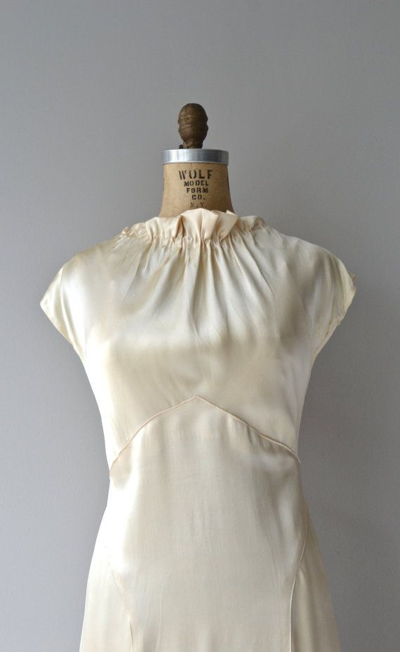 Osborne House wedding gown | vintage 1930s wedding dress • silk 30s ...