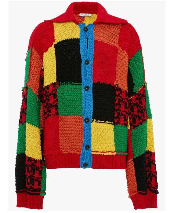 JW Anderson colourblock cardigan Harry Styles patc