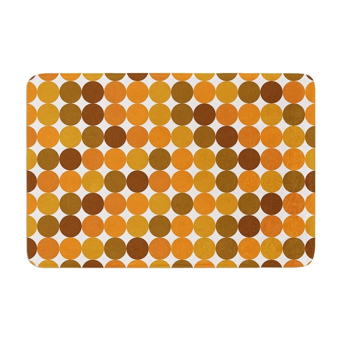 Kess Original Noblefur Orange Harvest Memory Foam Bath Mat Kess