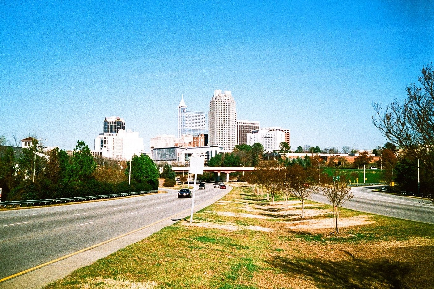 Downtown Raleigh North Carolina From Mcdowell Street