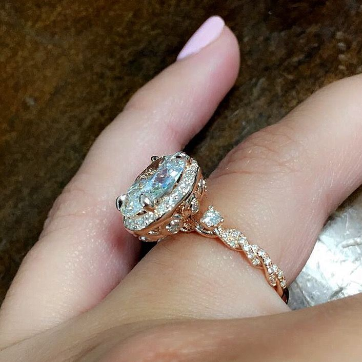 6643dd277172c Dory in 2019   Unique Engagement Rings   Engagement rings, Wedding ...