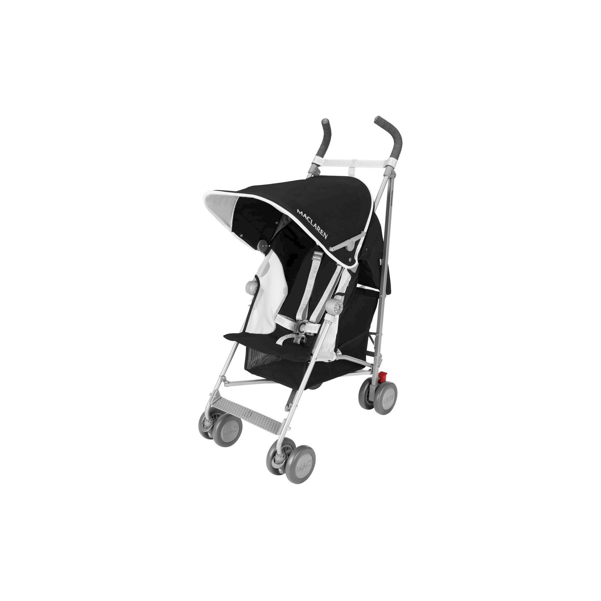 Maclaren Globetrotter Baby Umbrella Stroller Black White