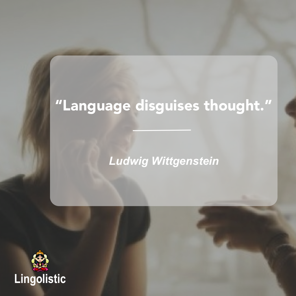 Language disguises thought