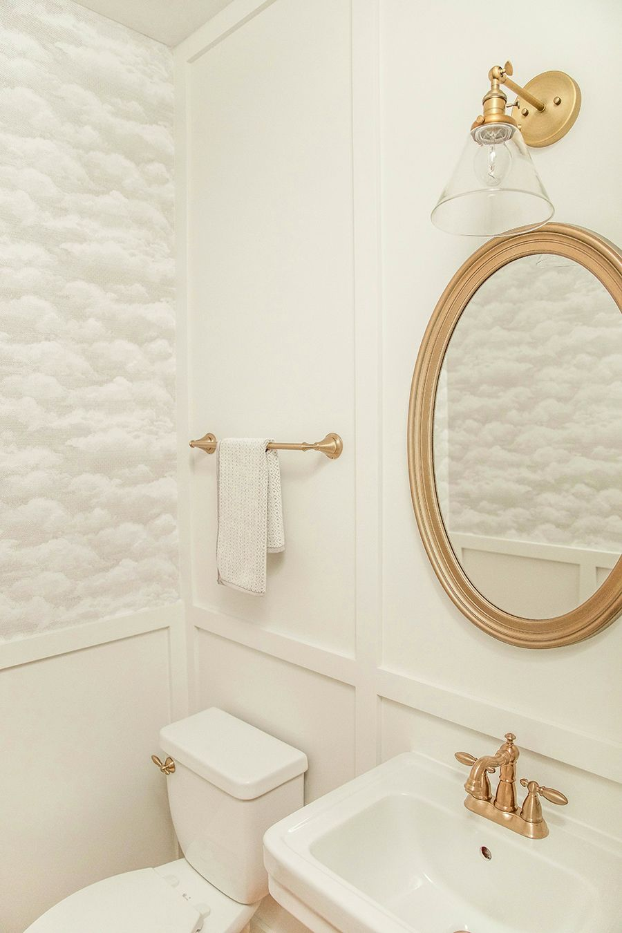Powder Room Renovation Reveal | board and batten | cloud