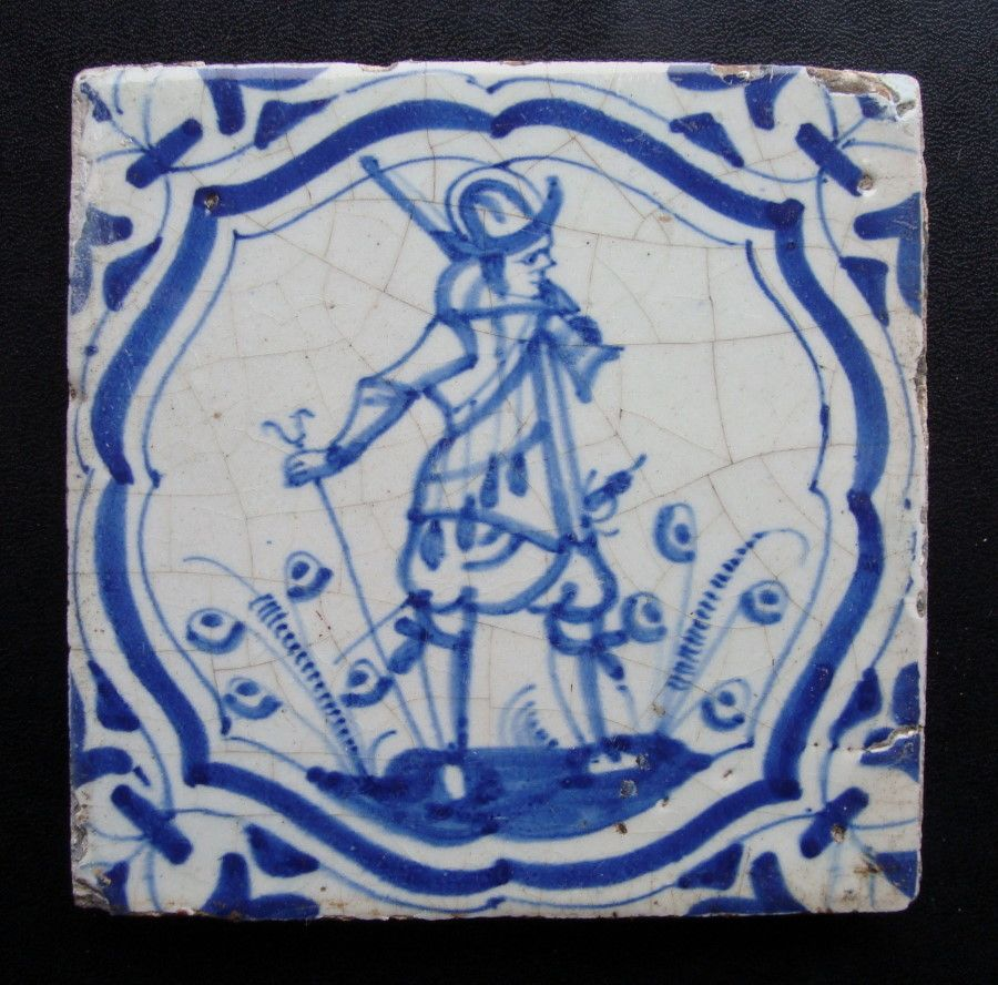 Delft tile with cobalt decoration of a soldier dutch 1625 50 delft tile with cobalt decoration of a soldier dutch 1625 50 dailygadgetfo Image collections