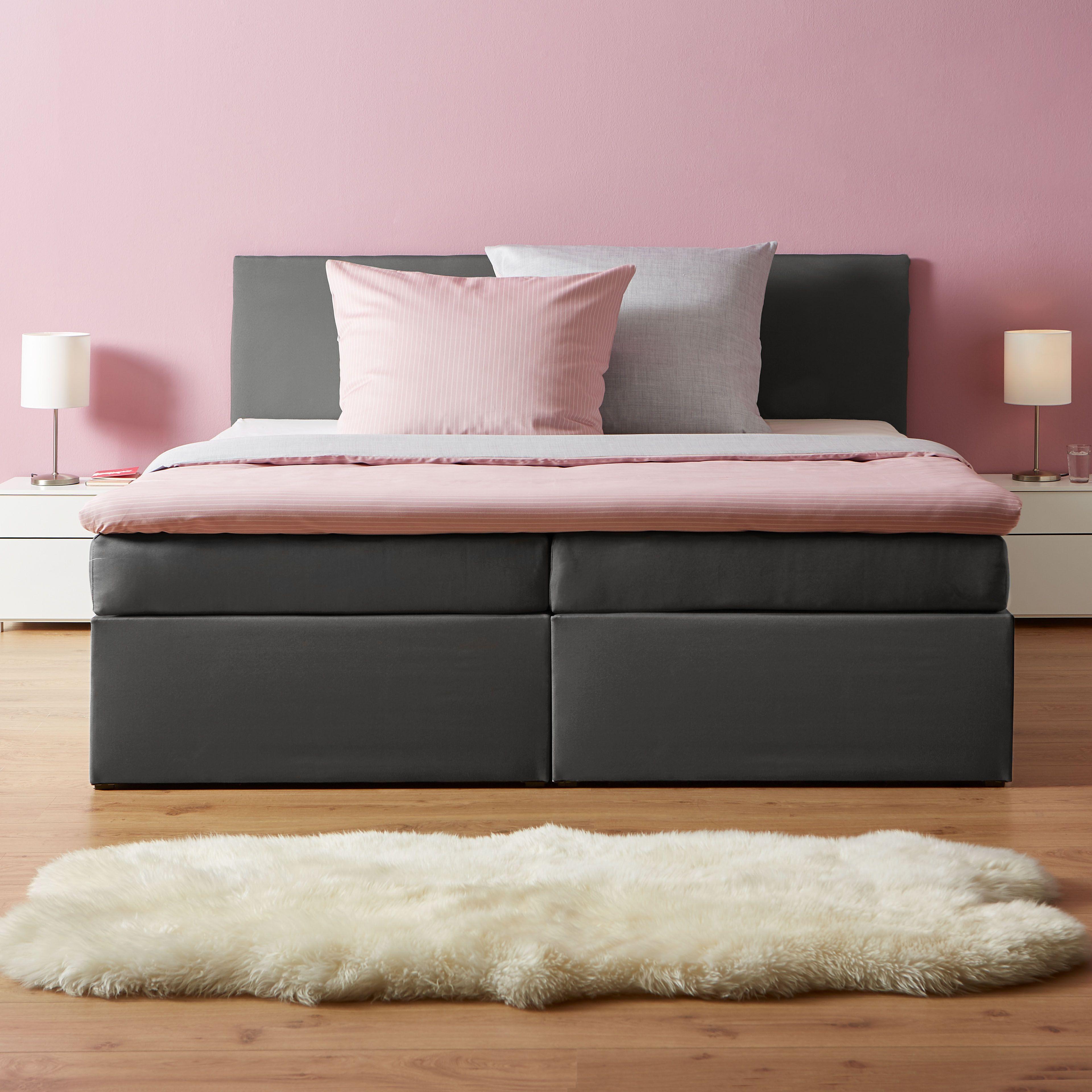 Boxspringbett In Grau Home Decor Bed Storage Bench