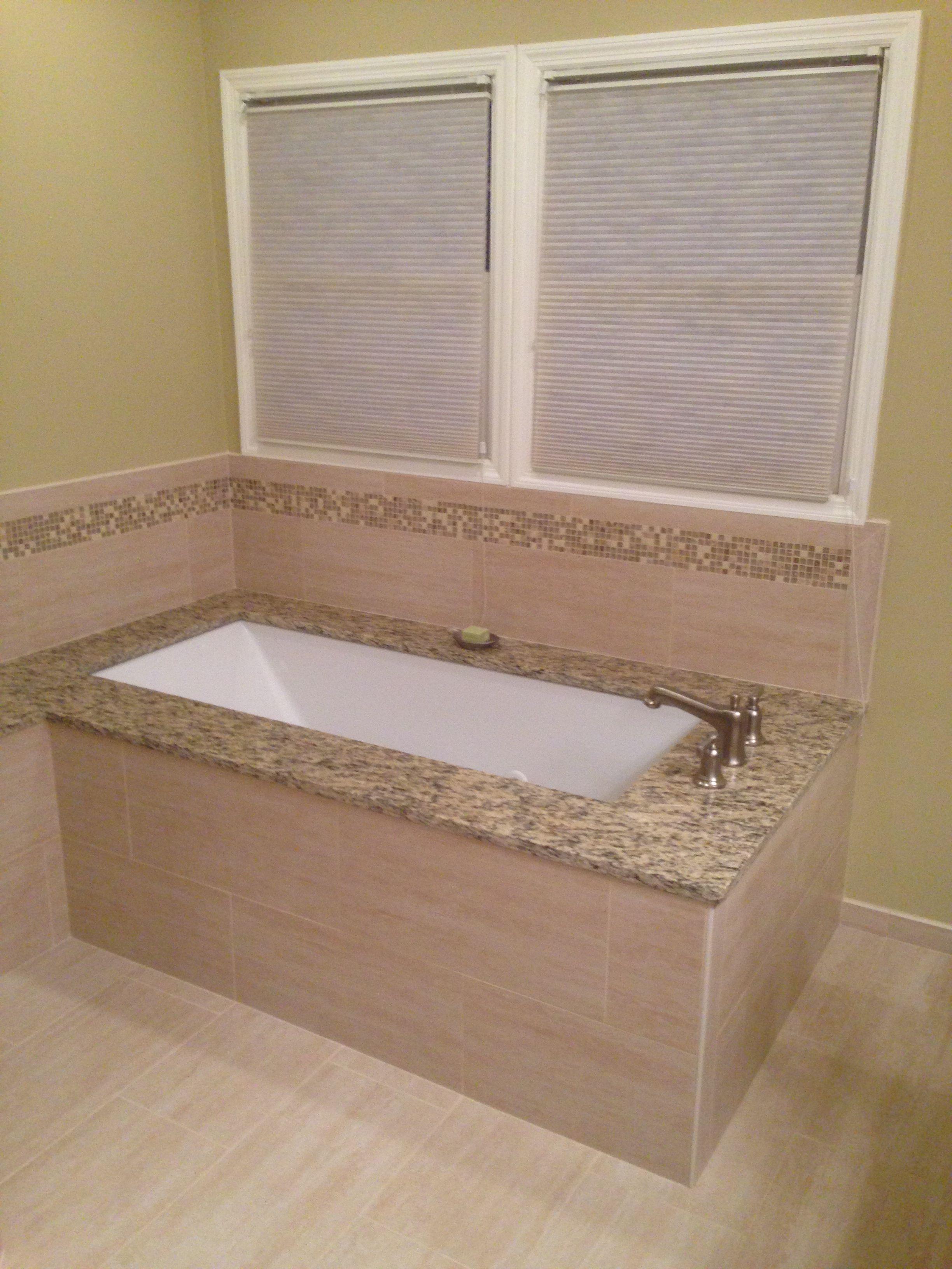 Under mount soaking tub with granite top Bathroom Remodeling Remodeling Ideas Granite Tops