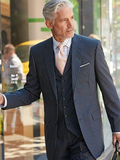 Navy Stripe Pure Wool Suit