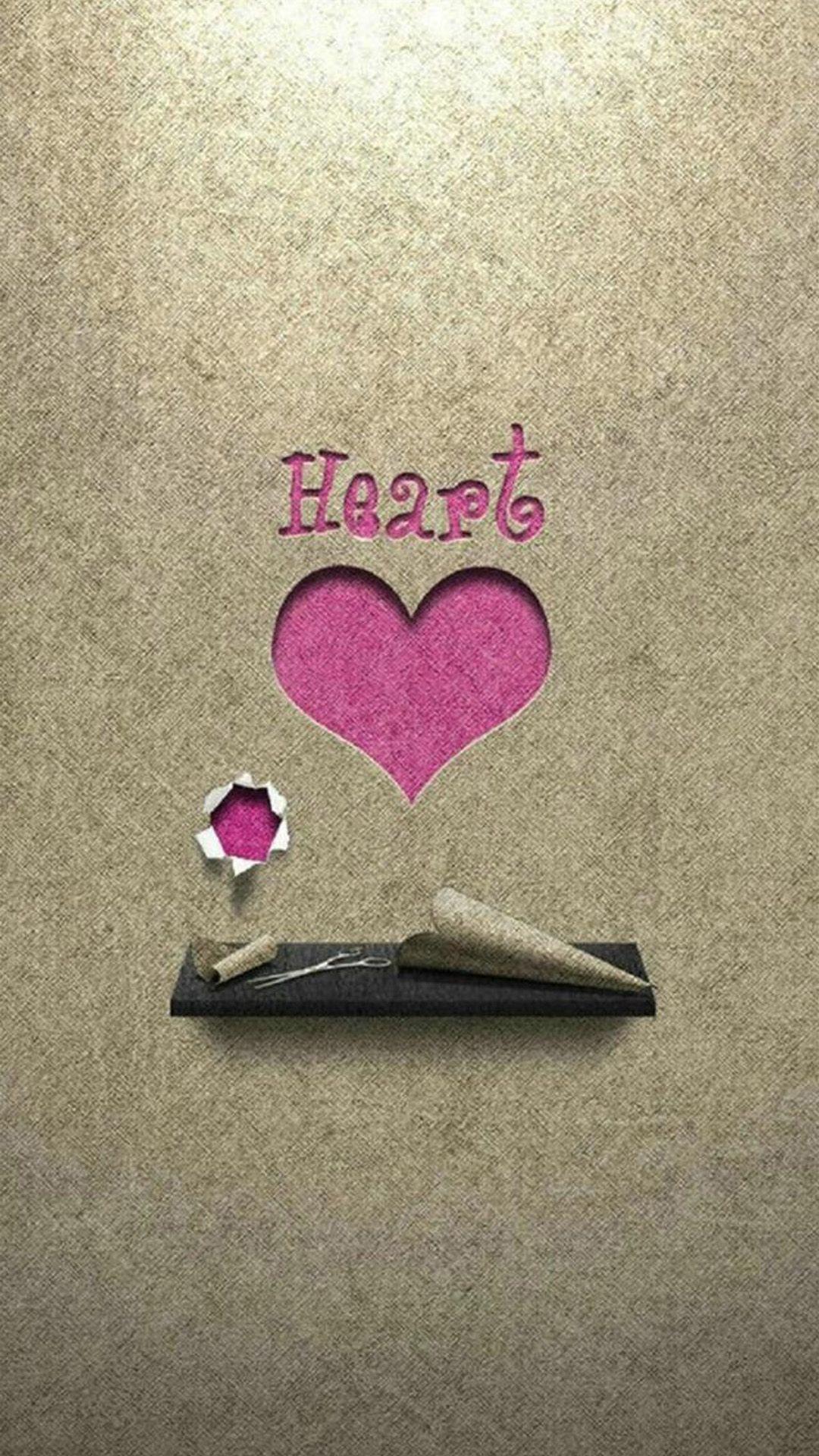 Heart Paper Cutting Background iPhone 7 wallpaper