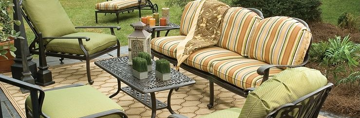 Lane Venture Patio Furniture The Charleston Collection Provides An Unexpected Look In Cast Aluminum Frames Furniture Outdoor Furniture Outdoor Furniture Sets