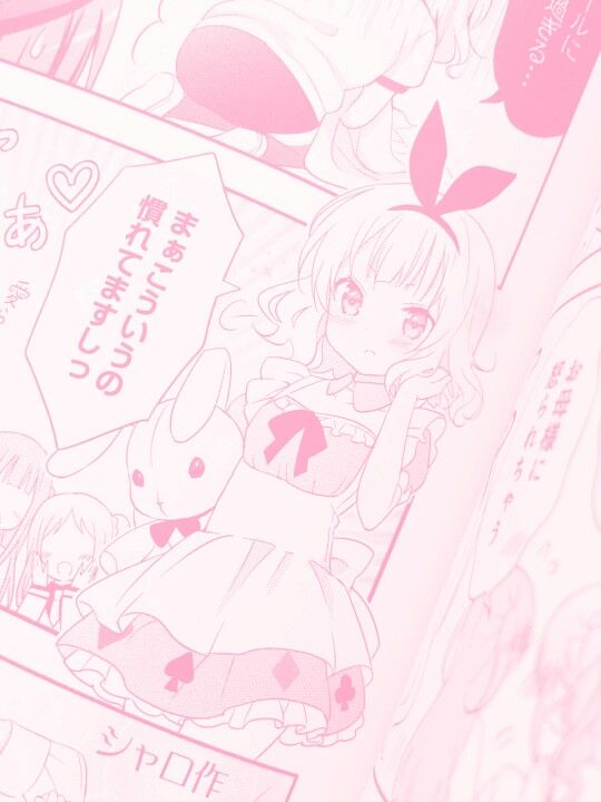 pink manga edits kawaii