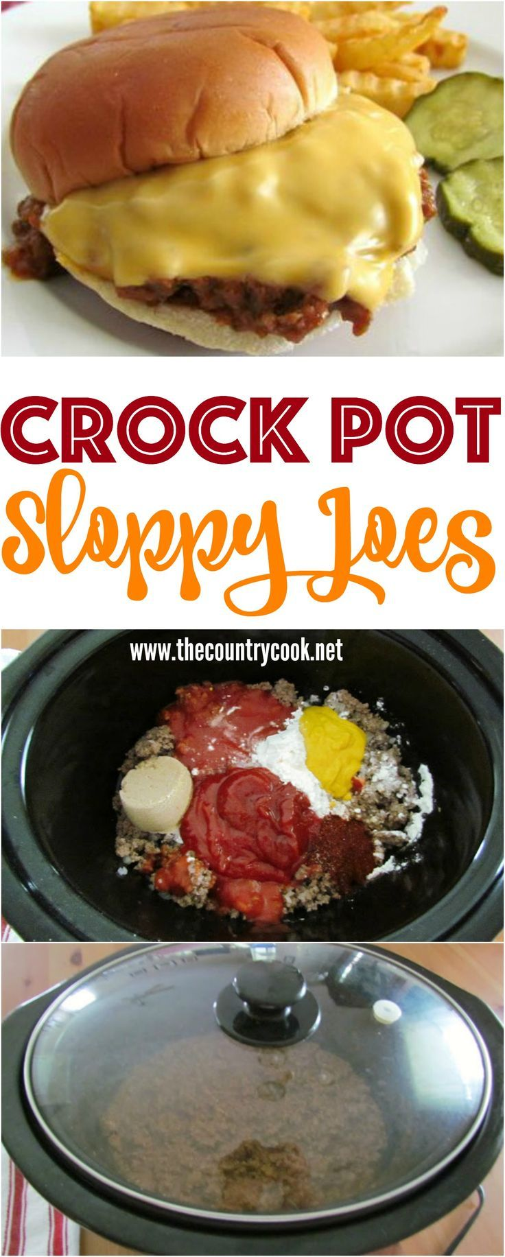 Crock pot sloppy joes #crockpotmeals