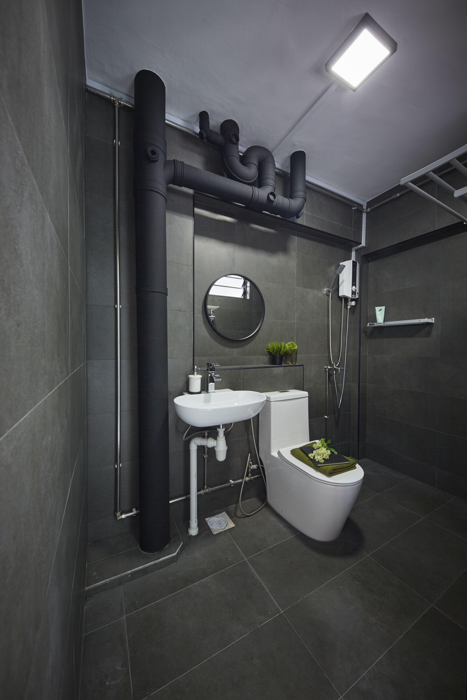 Carpenters Interior Design Hdb Resale Apartment Design Singapore Bathroom Design Small Modern Toilet Design Black Bathroom Accessories