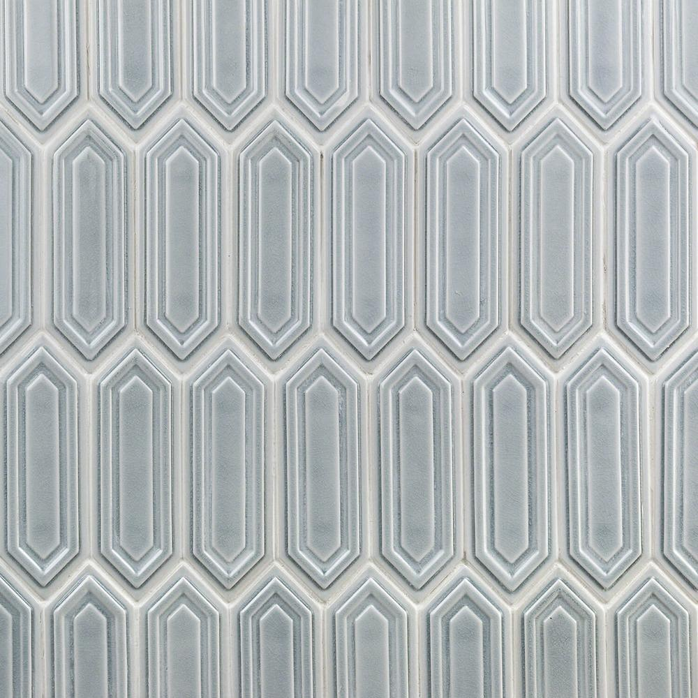 Ivy Hill Tile Oracle Sky Hexagon 9 1 2 In X 15 1 2 In 14 Mm Glazed Ceramic Mosaic Tile 1 02 Sq Ft Ext3rd100367 Ceramic Mosaic Tile Mosaic Tiles Tiles