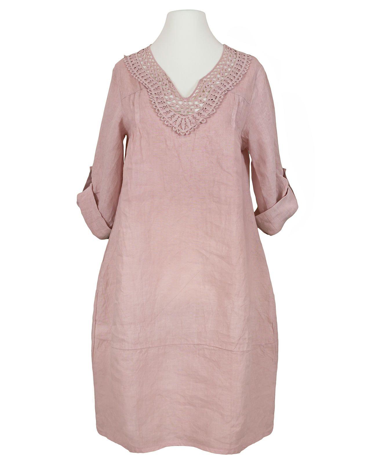 tunika kleid leinen, rosa bei meinkleidchen kaufen | tunika