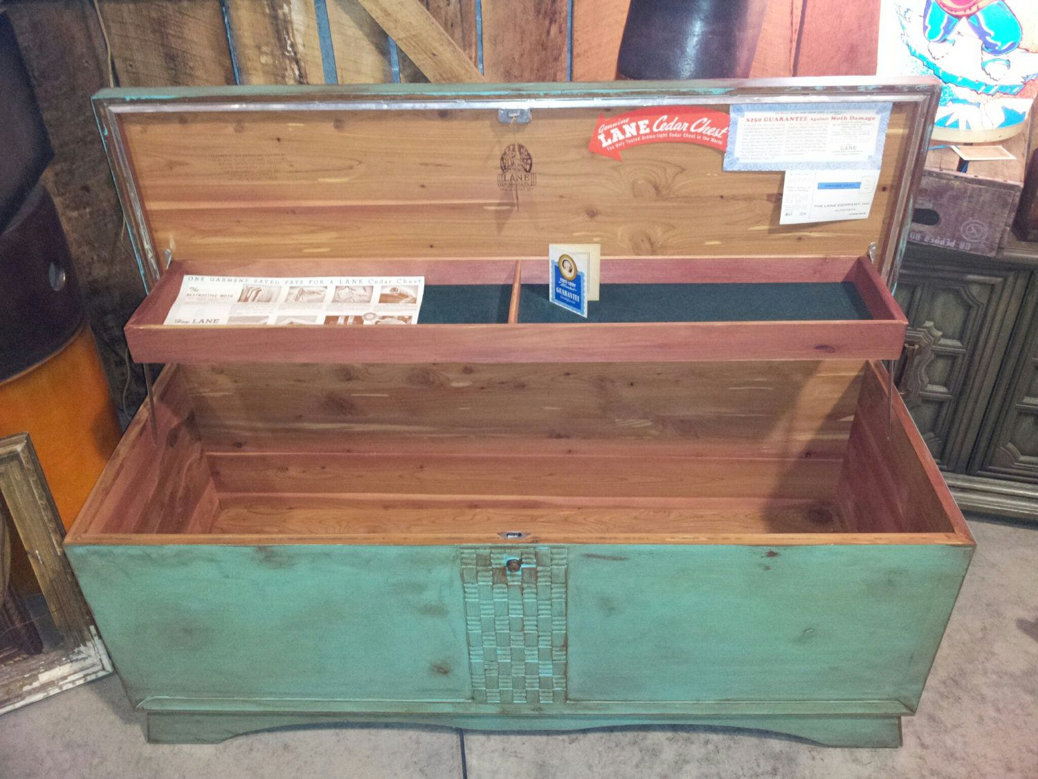 1952 Painted Lane Cedar Chest With All Paperwork 200 00 Via Etsy Rustic Fireplace Decor Cedar Chest Hope Chest