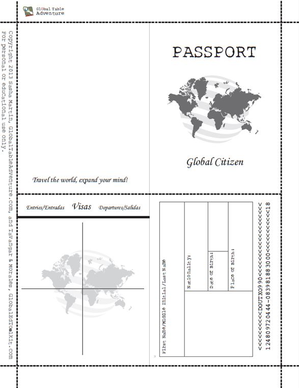 make your own passport template free printable passport book image results
