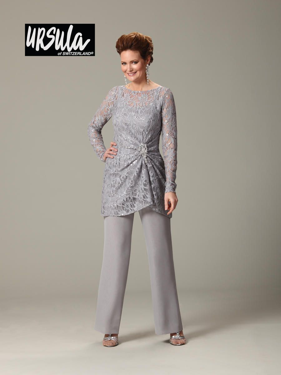 f2628109e91 Ursula 43177 Plus Size Lace Mothers Wedding Pant Suit
