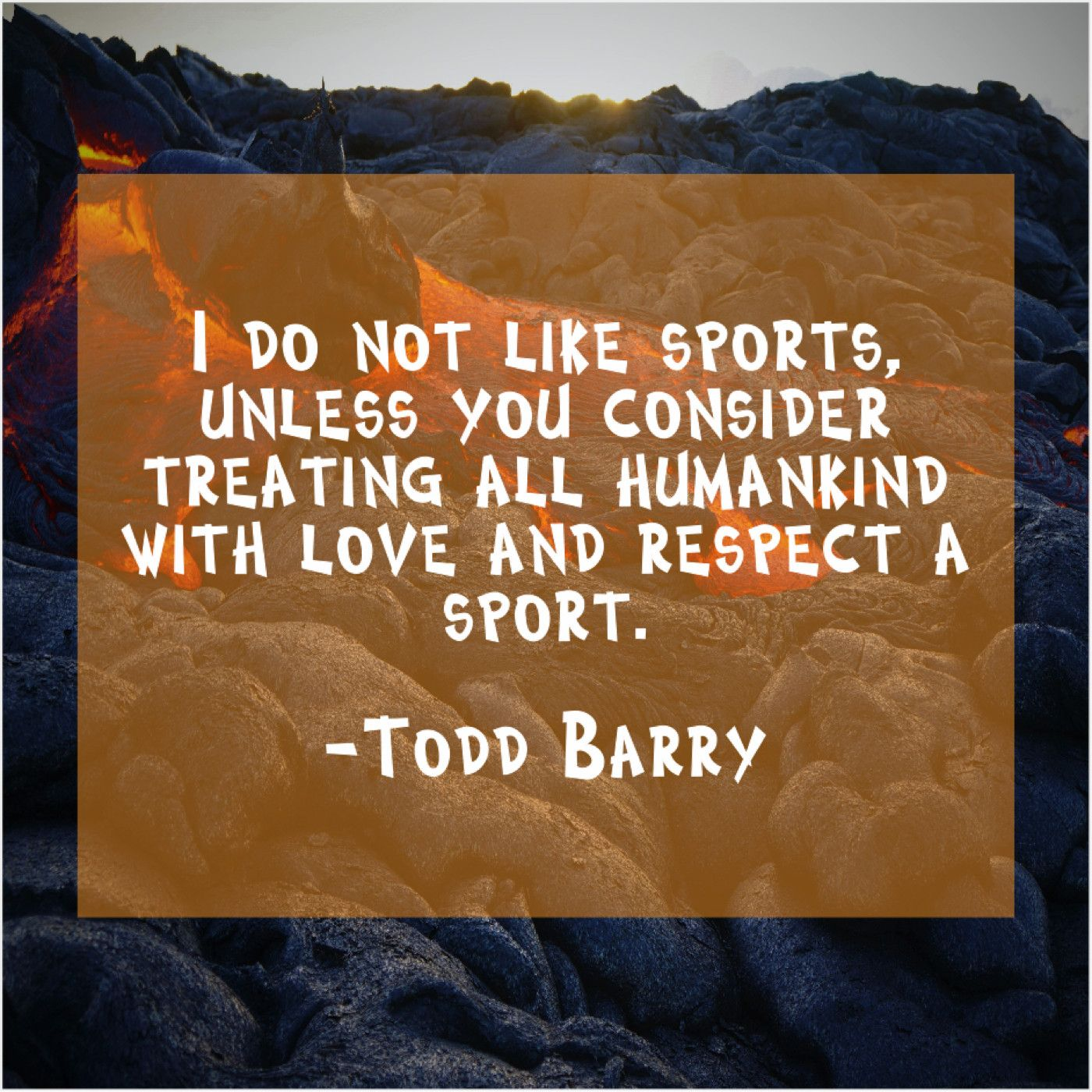 Todd Barry I do not like sports Quote Trumpet