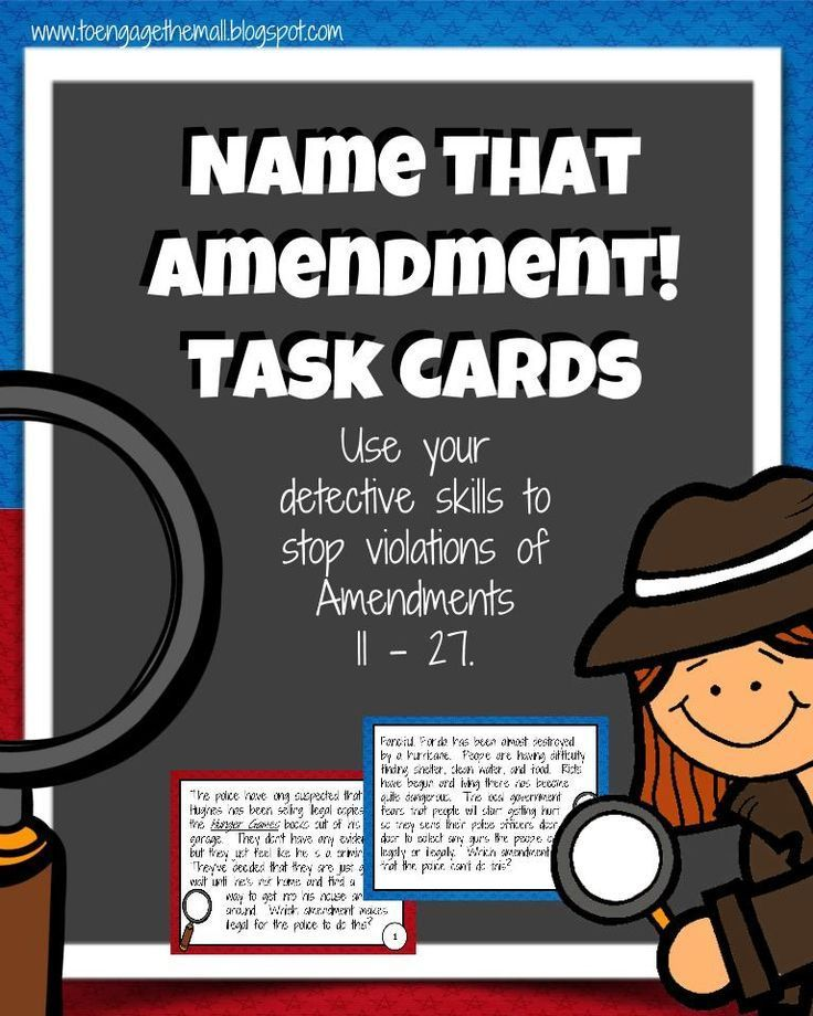Amendments 11 27 task cards and walk the room with