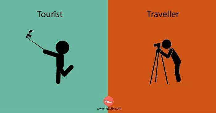 Tourist or travelling?